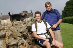 Richard and son Hadrian's Wall