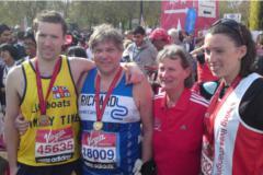 Richard and family London Marathon 2010